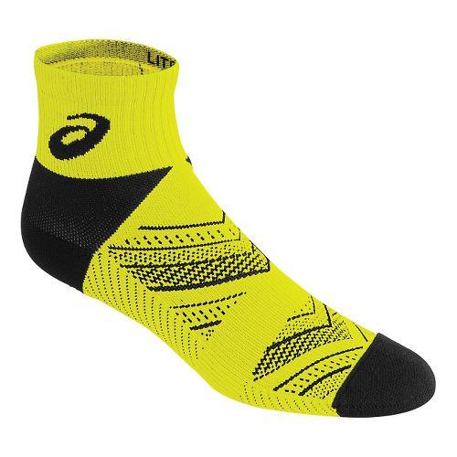 ASICS Lite-Tech Quarter 3 Pack Socks - Safety Yellow M