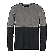 Mens prAna Color Block Sweater Crew Long Sleeve Non-Technical Tops