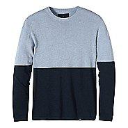 Mens prAna Color Block Sweater Crew Long Sleeve Non-Technical Tops