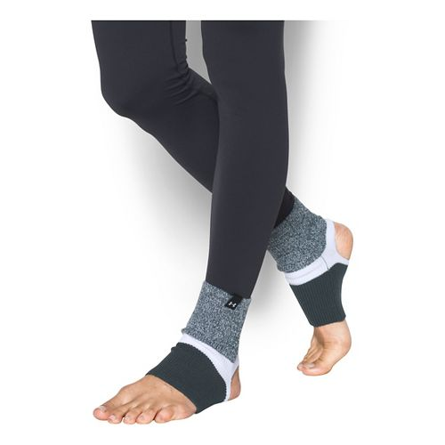Womens Under Armour Essentials Lolo Legwarmers Fitness Equipment - Stealth Grey/White