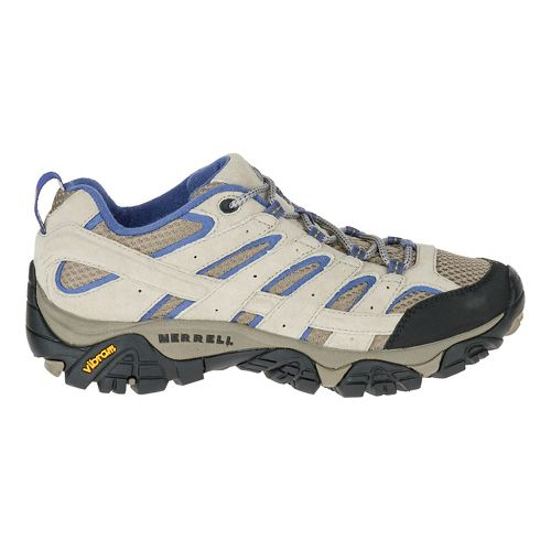 Womens Merrell Moab 2 Vent Hiking Shoe - Aluminum/Marlin 8.5