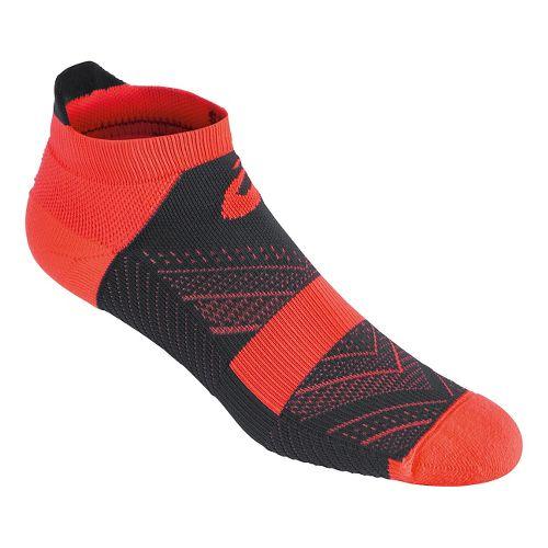 ASICS Lite-Tech Single Tab 3 Pack Socks - Fiery Flame/Grey XL