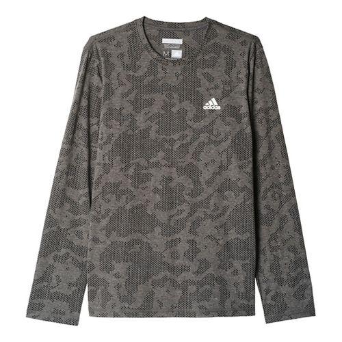 Mens Adidas Aeroknit Tee Long Sleeve Technical Tops - Black L