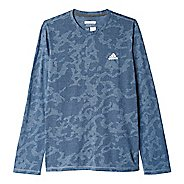 Mens Adidas Aeroknit Tee Long Sleeve Technical Tops