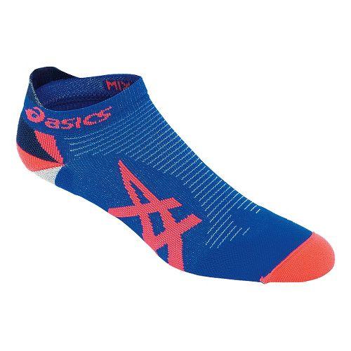 ASICS Mix Up Your Run Low Cut 3 Pack Socks - Blue/Shocking Orange M