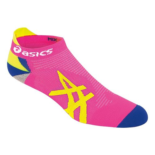 ASICS Mix Up Your Run Low Cut 3 Pack Socks - Pink Glow/Yellow M