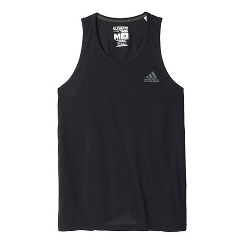 Mens Adidas Ultimate Sleeveless & Tank Tops Technical Tops - Black/Grey XL