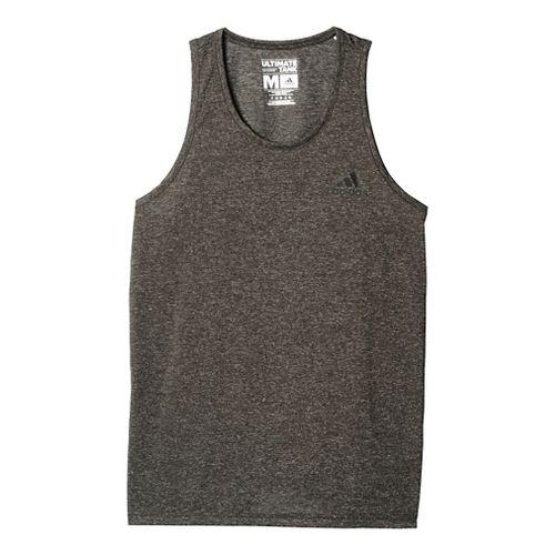 Mens Adidas Ultimate Sleeveless & Tank Tops Technical Tops - Dark Grey/Black L