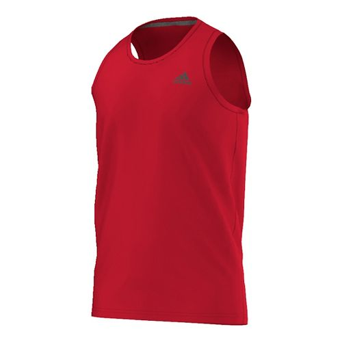 Mens Adidas Ultimate Sleeveless & Tank Tops Technical Tops - Scarlet/Grey XL