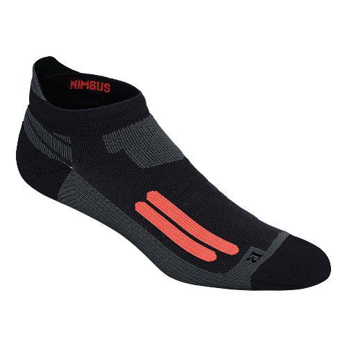 ASICS Nimbus Single Tab 3 Pack Socks - Black/Fiery Flame M