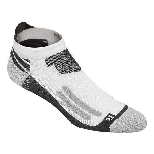ASICS Nimbus Single Tab 3 Pack Socks - White/Dark Grey S