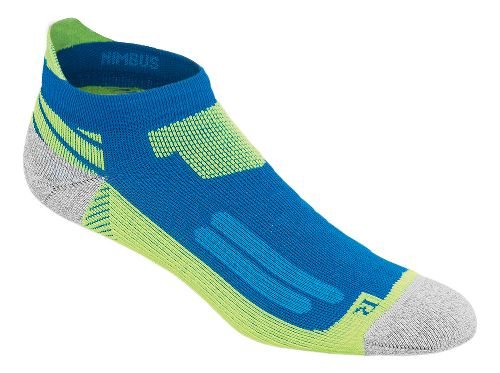 ASICS Nimbus Single Tab 3 Pack Socks - Airforce Blue/Yellow S