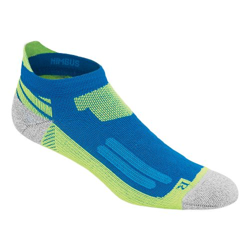 ASICS Nimbus Single Tab 3 Pack Socks - Airforce Blue/Yellow M