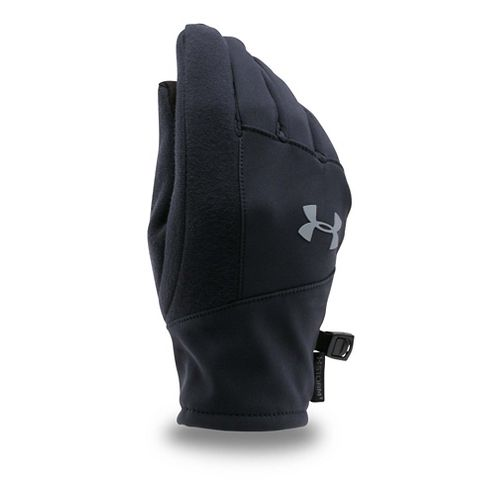 Under Armour Kids Softshell Glove Handwear - Black/Graphite L