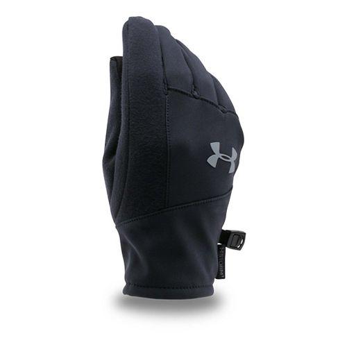 Under Armour Kids Softshell Glove Handwear - Black/Graphite M