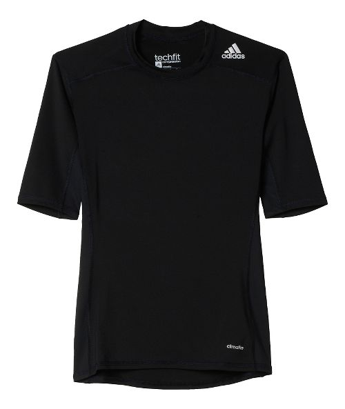 Mens Adidas Techfit SS Base Layer Short Sleeve Technical Tops - Black M