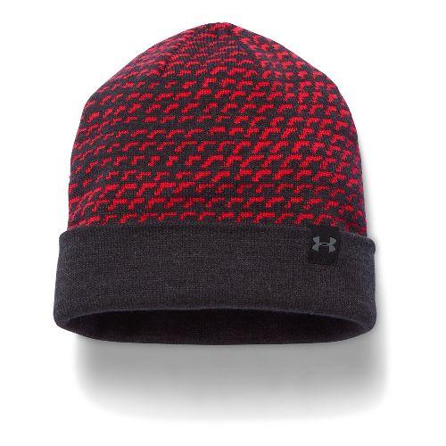 Under Armour Boys 4-in-1 Beanie Headwear - Red/Grey