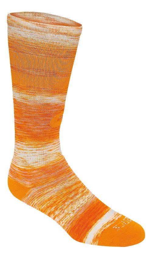 ASICS Old School Blur Knee High 3 Pack Socks - Orange L