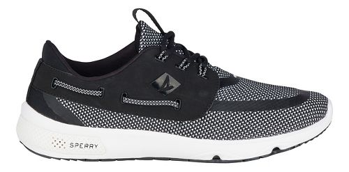 Mens Sperry 7 SEAS 3-Eye Casual Shoe - Black/White 13