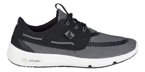 Mens Sperry 7 SEAS 3-Eye Casual Shoe - Black/White 9.5