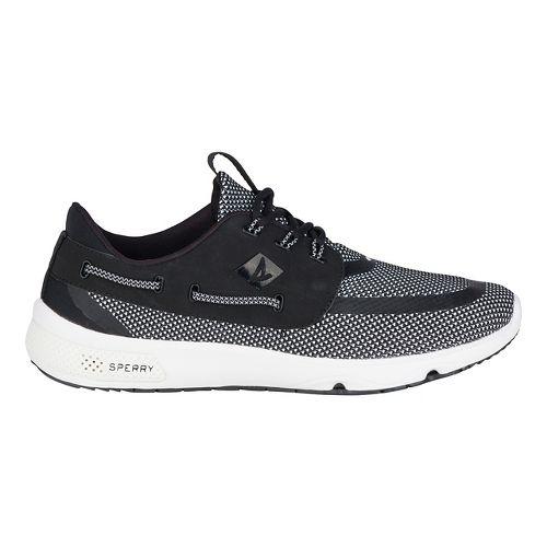 Mens Sperry 7 SEAS 3-Eye Casual Shoe - Black/White 8