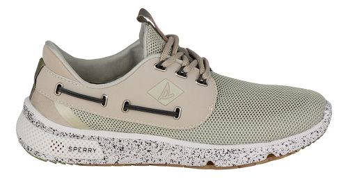 Mens Sperry 7 SEAS 3-Eye Casual Shoe - White Camo 10.5