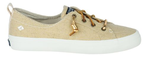Womens Sperry Crest Vibe Linen Casual Shoe - Gold Metallic 10