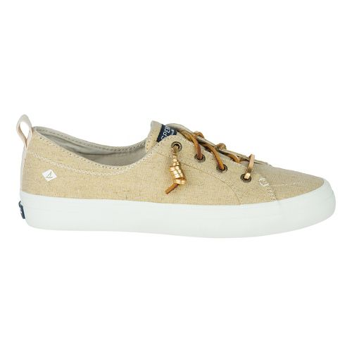 Womens Sperry Crest Vibe Linen Casual Shoe - Gold Metallic 9.5
