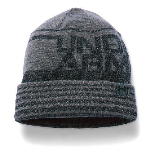 Under Armour Boys Cuff Billboard Beanie Headwear - Graphite/Black