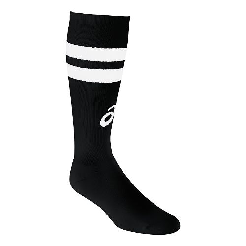 ASICS Old School Striped Knee High 3 Pack Socks - Black/White M