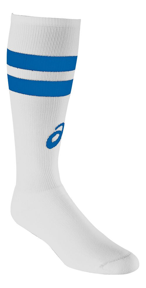 ASICS Old School Striped Knee High 3 Pack Socks - White/Royal S