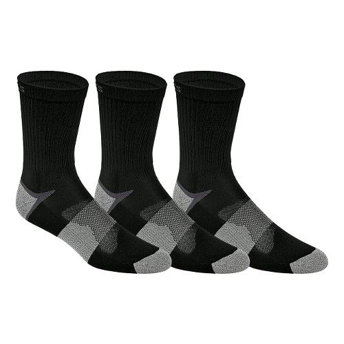 ASICS Quick Lyte Cushion Crew 9 Pack Socks - Black L