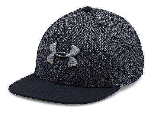 Under Armour Boys Twist Knit Snapback Headwear - Black/Graphite