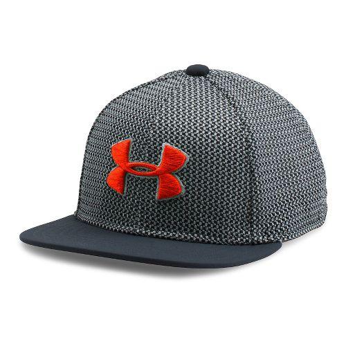 Under Armour Boys Twist Knit Snapback Headwear - Stealth Grey/Volcano