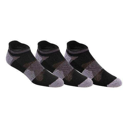 ASICS Quick Lyte Cushion Single Tab 9 Pack Socks - Black/Grey Heather S