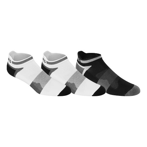 ASICS Quick Lyte Cushion Single Tab 9 Pack Socks - White/Black XL