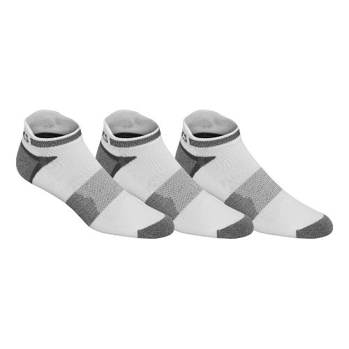 ASICS Quick Lyte Cushion Single Tab 9 Pack Socks - White/Grey Heather XL