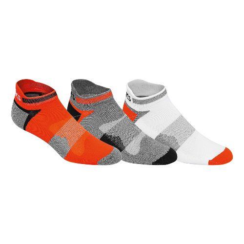 ASICS Quick Lyte Cushion Single Tab 9 Pack Socks - Cone Orange Assorted S