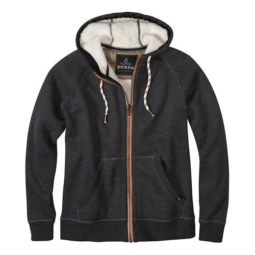 Lifestyle Full Zip Sherpa Hood Half-Zips & Hoodies Non-Technical Tops - Black L