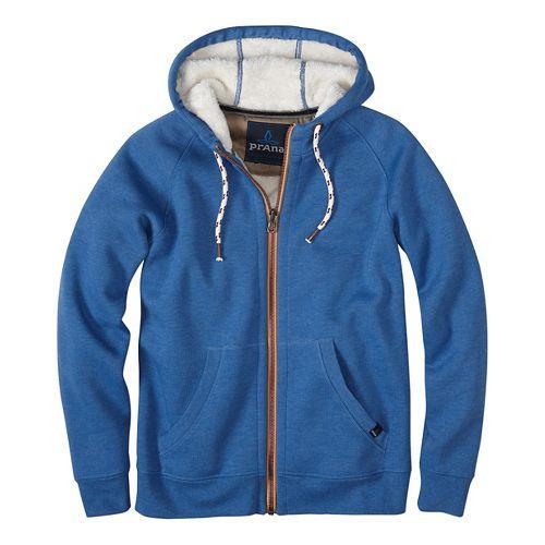 Lifestyle Full Zip Sherpa Hood Half-Zips & Hoodies Non-Technical Tops - Blue L