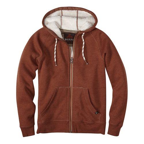 Lifestyle Full Zip Sherpa Hood Half-Zips & Hoodies Non-Technical Tops - Red L