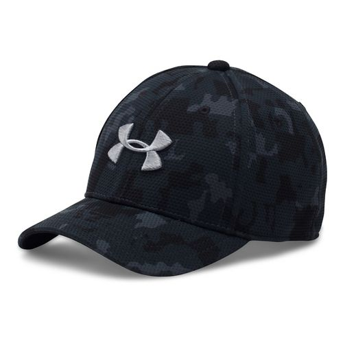 Under Armour Boys Printed Blitzing Cap Headwear - Black/Steel XS/S