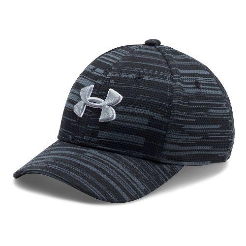 Under Armour Boys Printed Blitzing Cap Headwear - Black/White S/M