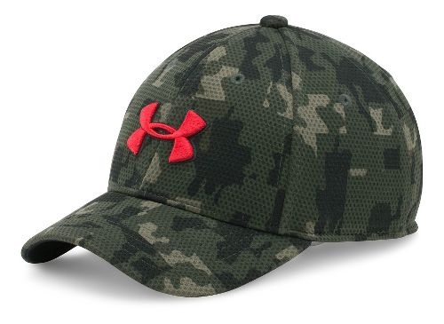 Under Armour Boys Printed Blitzing Cap Headwear - Army Green/Red XS/S