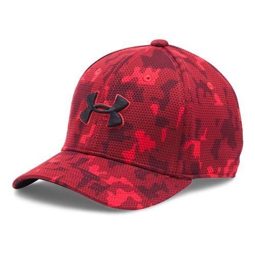 Under Armour Boys Printed Blitzing Cap Headwear - Cardinal/Black XS/S