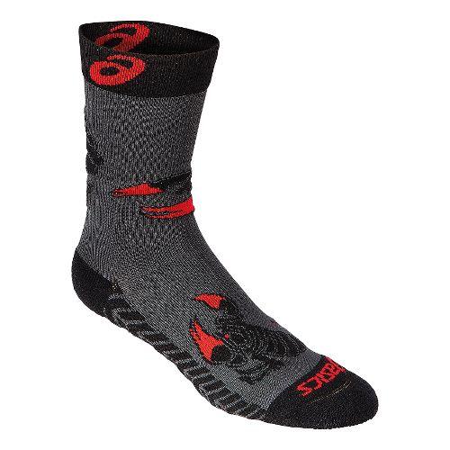 ASICS Scorpion Crew 3 Pack Socks - Graphite/Black XL