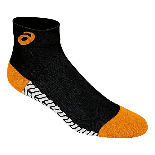 ASICS Snap Down LT Sock 3 Pack Socks - Black/Neon Orange M