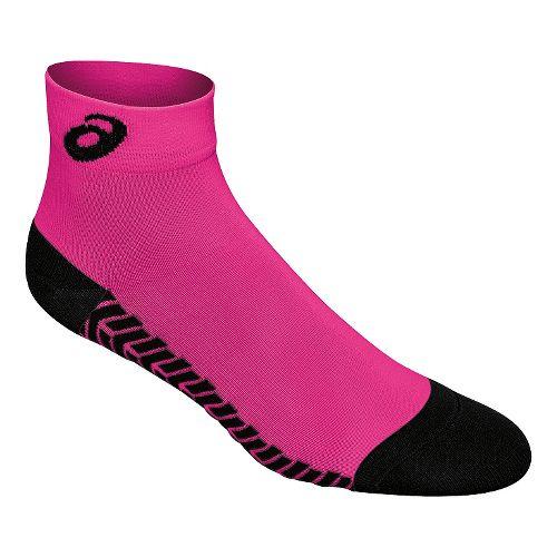 ASICS Snap Down LT Sock 3 Pack Socks - Pink Glo/Black M