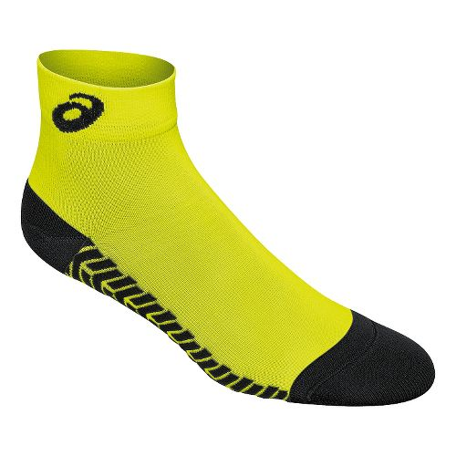 ASICS Snap Down LT Sock 3 Pack Socks - Neon/Black M