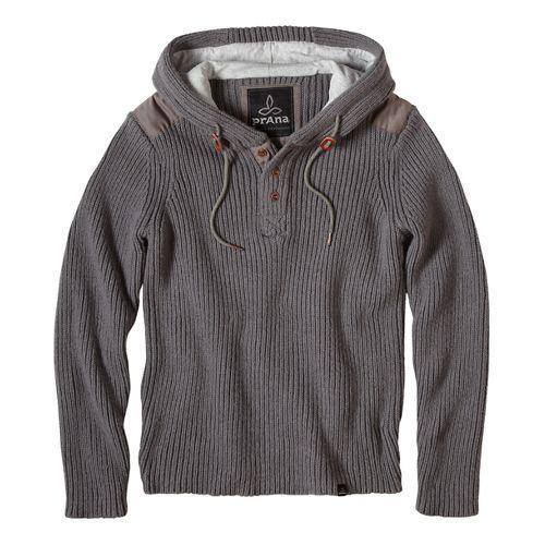prAna Hooded Henley Sweater Half-Zips & Hoodies Non-Technical Tops - Green/Green XXL